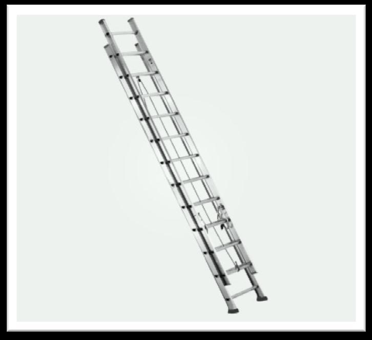 Double Section Aluminium Ladder