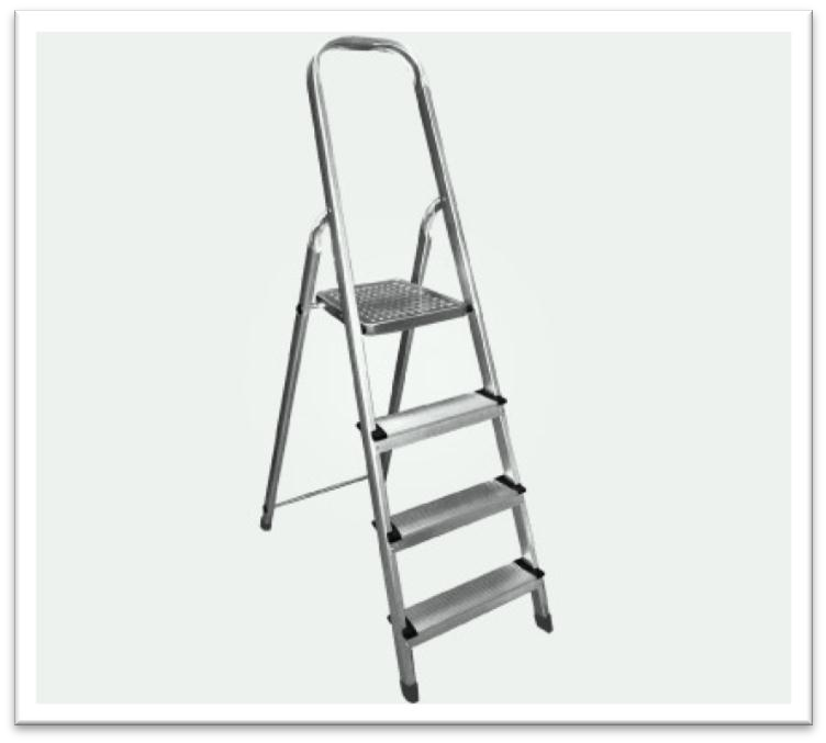 Platform Step Aluminium Ladder