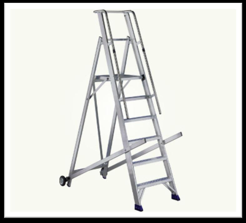 Rolling Warehouse Aluminium Ladder